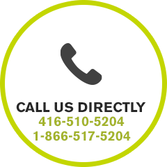 Call Us Directly 416-510-5204 or 1-866-517-5204