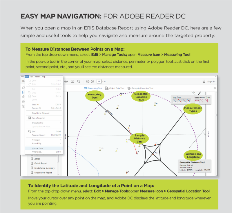 Easy Map Navigation: For Adobe Reader DC